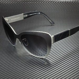 SALE! Burberry Black Silver 57mm Sunglasses NIB!